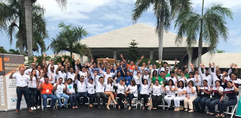 Primer encuentro regional responsables  Operación Comercial y de Negocios de Microfinanzas a nivel sucursales  - Punta Cana, República Dominicana - 60 participantes